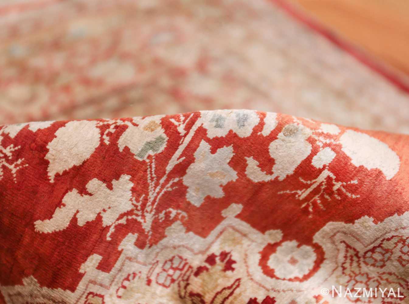 Antique Silk Persian Hajijalili Tabriz Rug 49830 Rust Pile Nazmiyal