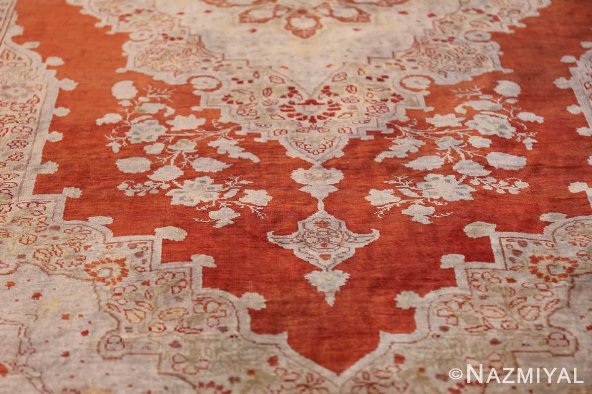 Antique Silk Persian Hajijalili Tabriz Rug 49830 Tiara Design Nazmiyal