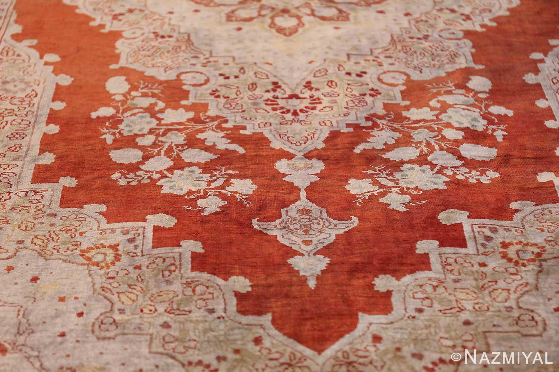 Antique Silk Persian Hajijalili Tabriz Rug 49830 Tiara Design Nazmiyal