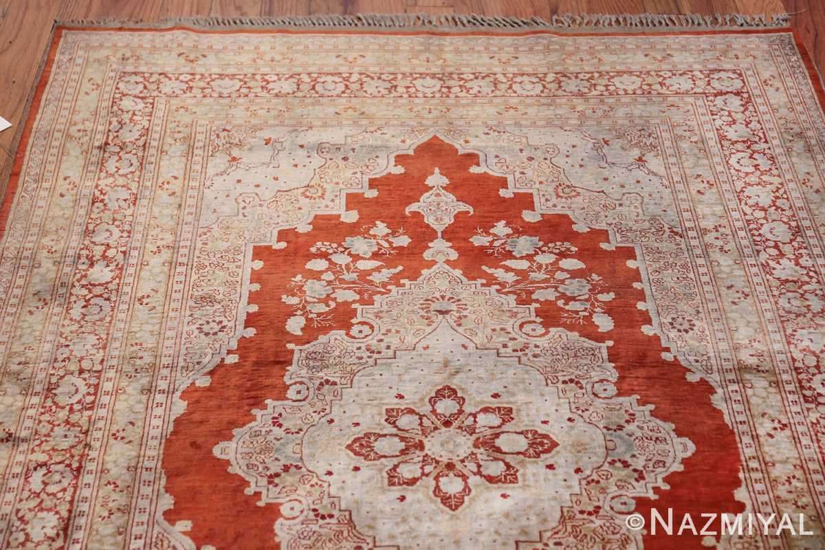 Antique Silk Persian Hajijalili Tabriz Rug 49830 Top Design Nazmiyal