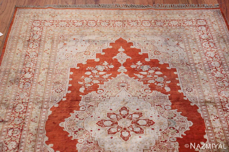 Antique Silk Persian Hajijalili Tabriz Rug 49830 Top Design Nazmiyal