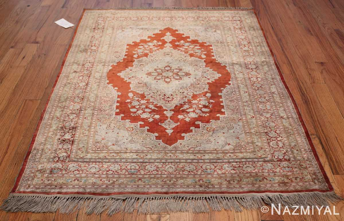 Antique Silk Persian Hajijalili Tabriz Rug 49830 Whole Design Nazmiyal