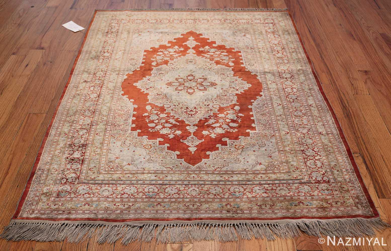 Antique Silk Persian Hajijalili Tabriz Rug 49830 Whole Design Nazmiyal