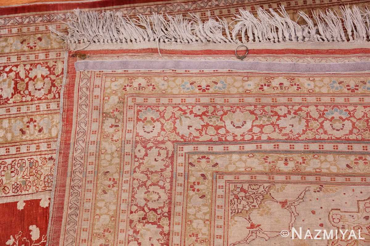 Antique Silk Persian Hajijalili Tabriz Rug 49830 Woven Knots Nazmiyal