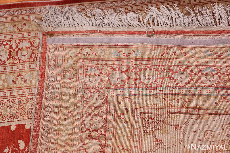 Antique Silk Persian Hajijalili Tabriz Rug 49830 Woven Knots Nazmiyal
