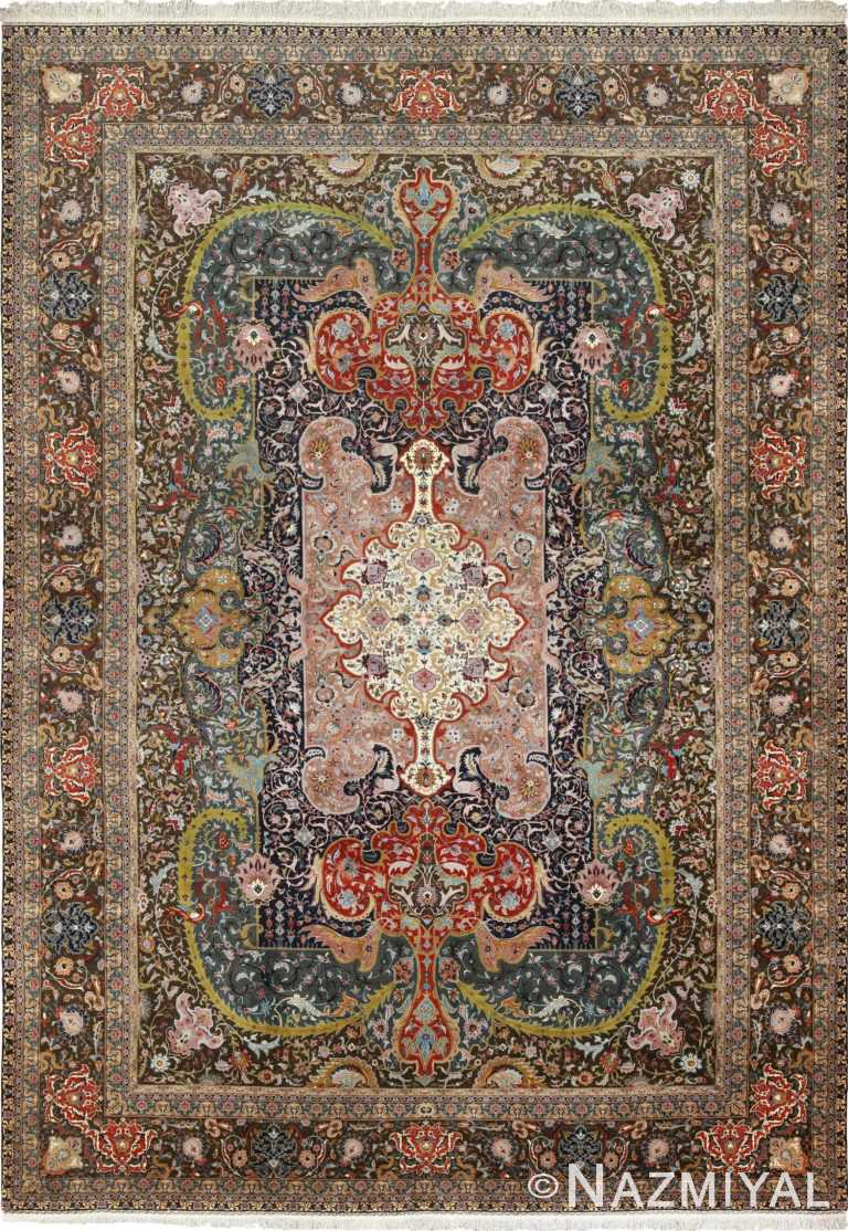 Large Oversized Vintage Persian Tabriz Rug 49837 Nazmiyal