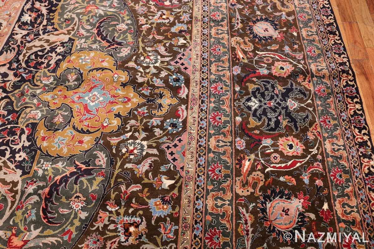 Oversized Vintage Persian Tabriz Rug 49837 Border Design Nazmiyal