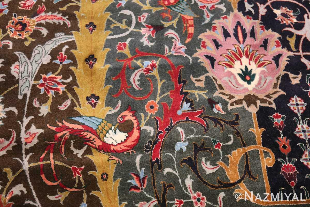 Oversized Vintage Persian Tabriz Rug 49837 Charming Bird Nazmiyal