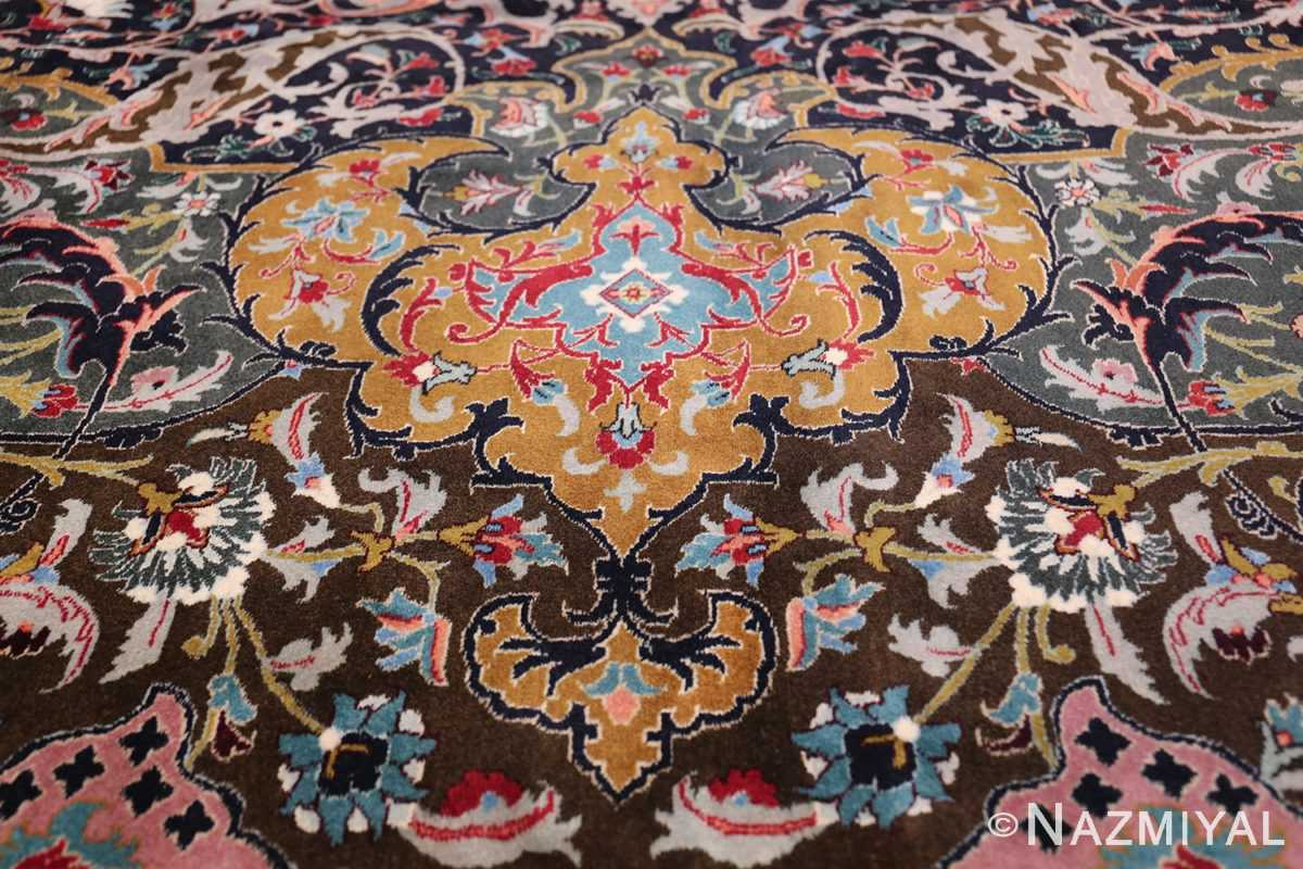 Oversized Vintage Persian Tabriz Rug 49837 Golden Upper Tiara Nazmiyal