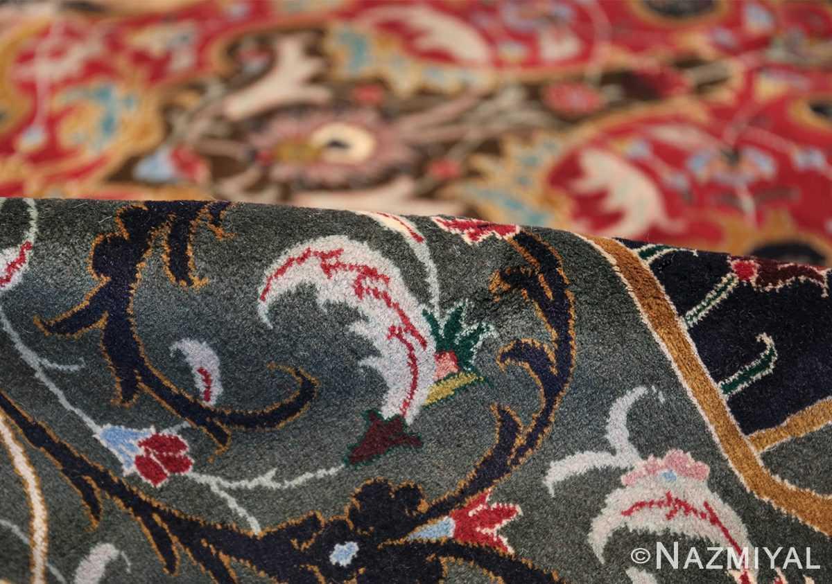 Oversized Vintage Persian Tabriz Rug 49837 Green Pile Nazmiyal