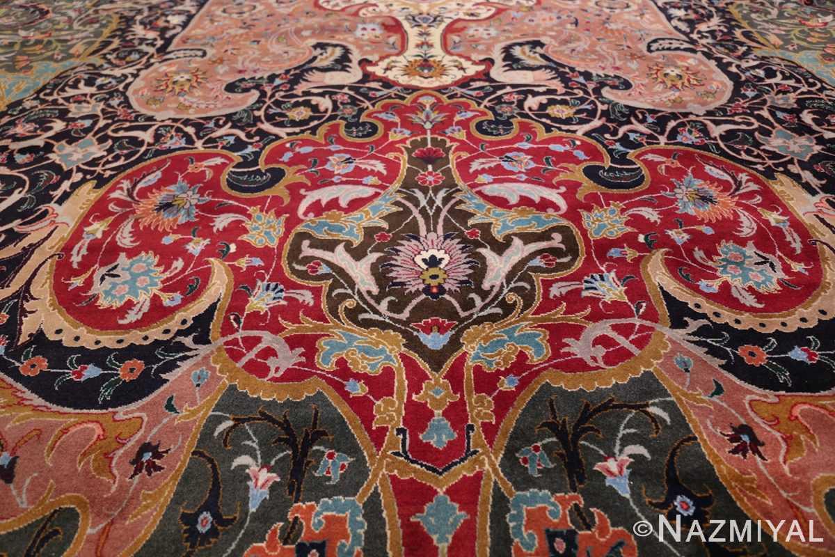 Oversized Vintage Persian Tabriz Rug 49837 Lower Mid Section Nazmiyal