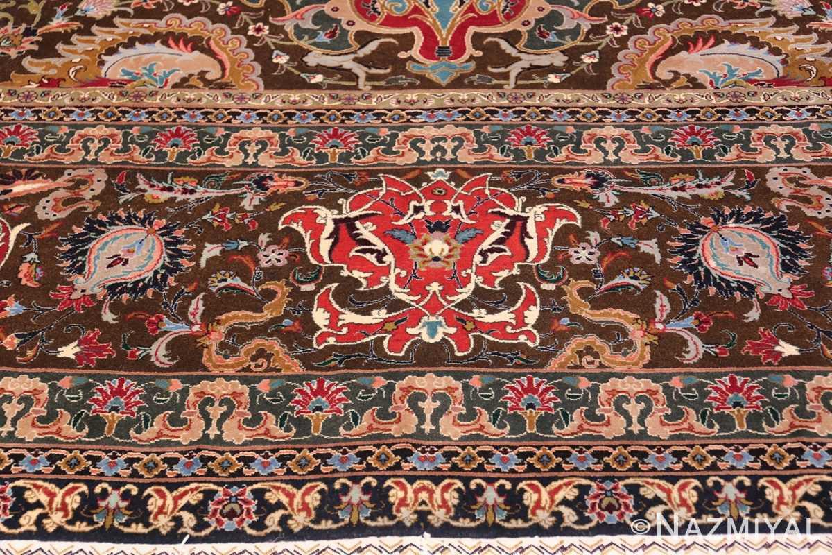 Oversized Vintage Persian Tabriz Rug 49837 Border Pattern Nazmiyal