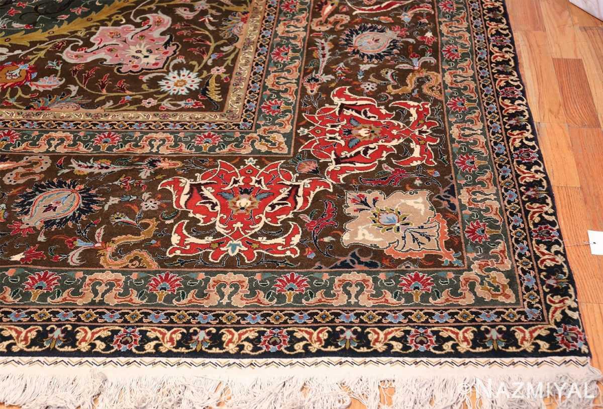 Oversized Vintage Persian Tabriz Rug 49837 Side Corner Nazmiyal