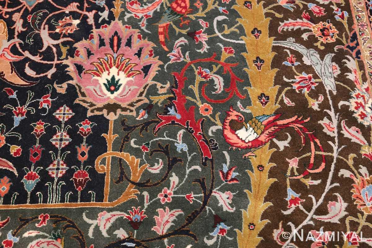 Oversized Vintage Persian Tabriz Rug 49837 Third Bird Nazmiyal