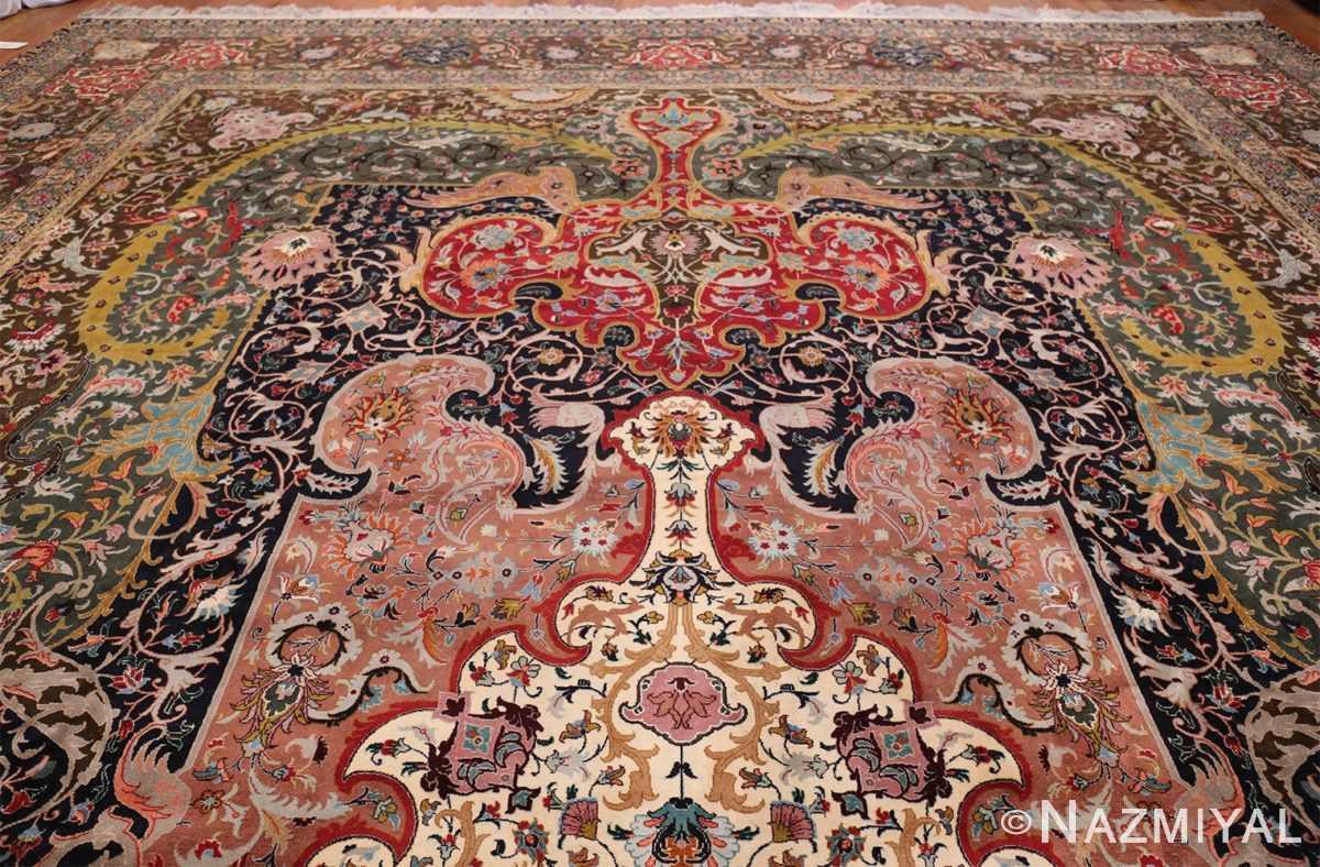 Oversized Vintage Persian Tabriz Rug 49837 Top Design Nazmiyal