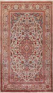 Small Size Antique Silk Persian Kashan Rug 49853 Nazmiyal