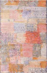 Vintage Scandinavian Ege Art Line Florentinische Villenviertel Paul Klee Rug 49862 Nazmiyal