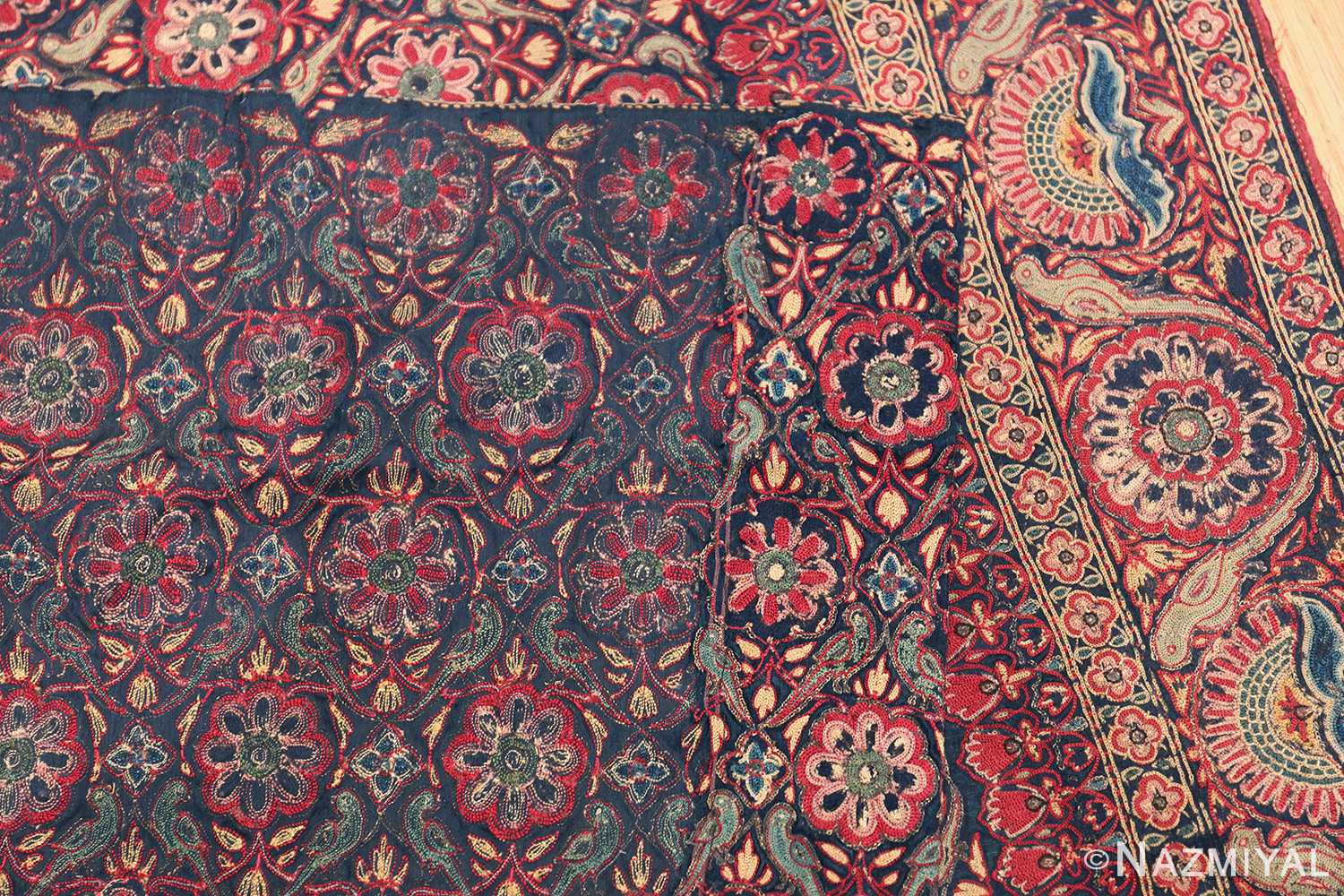 18th Century Indian Embroidery Textile 40364 Woven Knots Nazmiyal