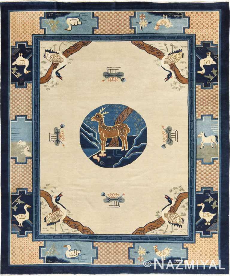 Antique Animal Motif Chinese Rug 49808 Nazmiyal