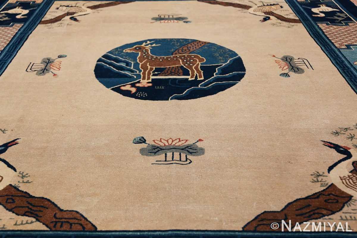 Animal Motif Antique Chinese Rug 49808 Field Design Nazmiyal