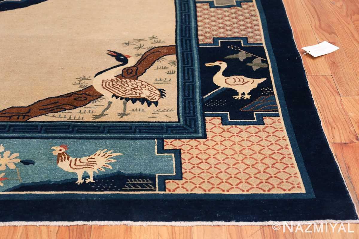 Animal Motif Antique Chinese Rug 49808 Side Corner Nazmiyal