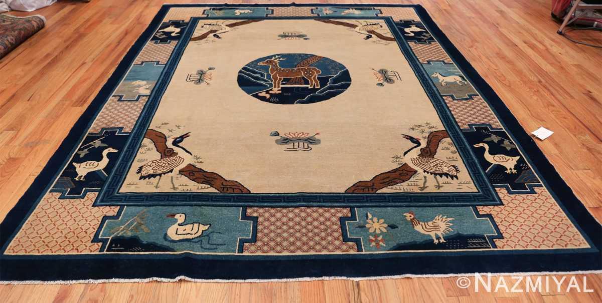 Animal Motif Antique Chinese Rug 49808 Whole Design Nazmiyal