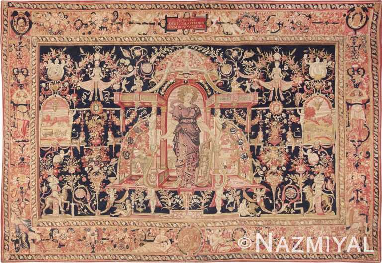 Antique D'Art De Rambouillet Edition French Tapestry 49901 Nazmiyal