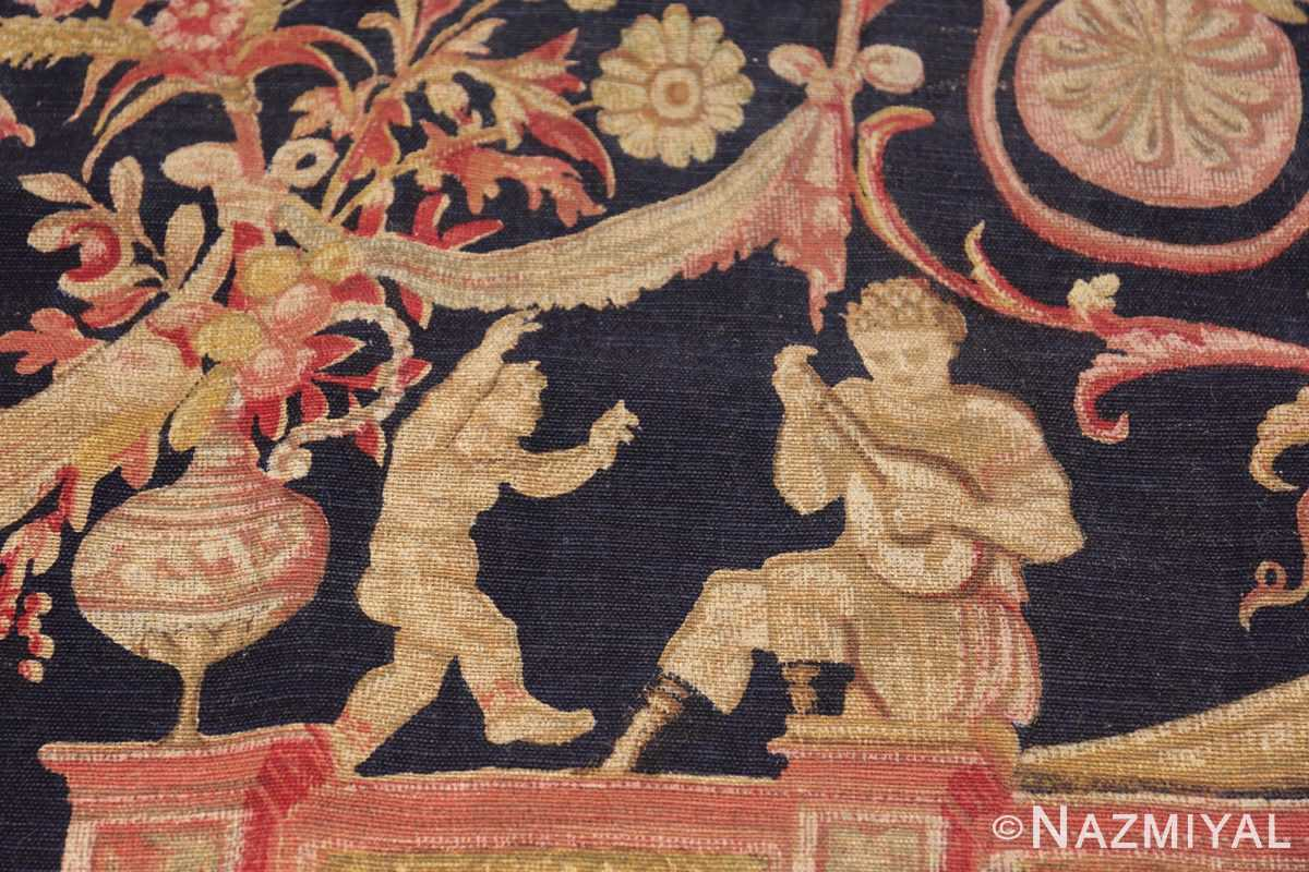 Antique D'Art De Rambouillet Edition French Tapestry 49901 Angels Playing Nazmiyal