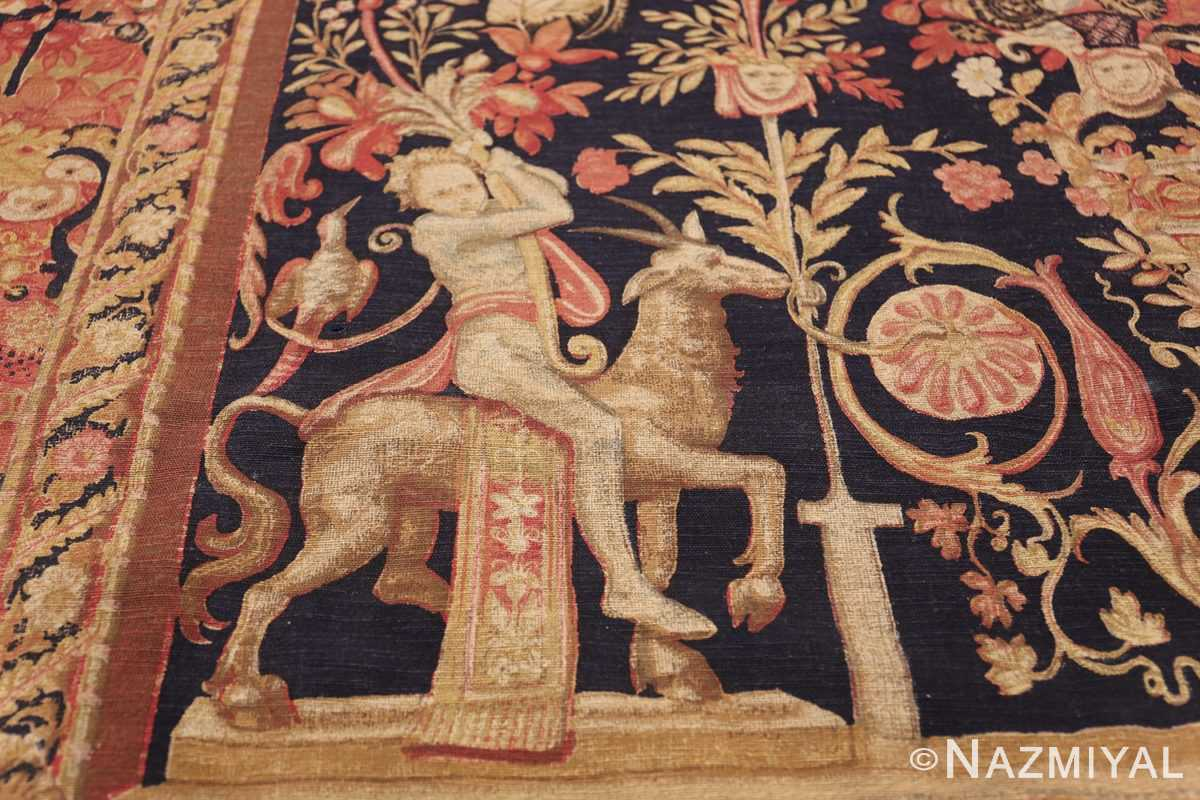 Antique D'Art De Rambouillet Edition French Tapestry 49901 Goat Rider Nazmiyal