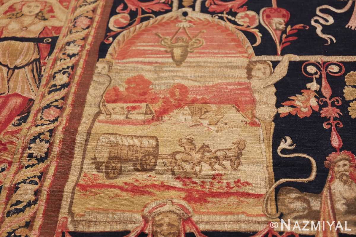 Antique D'Art De Rambouillet Edition French Tapestry 49901 Side Frame Nazmiyal