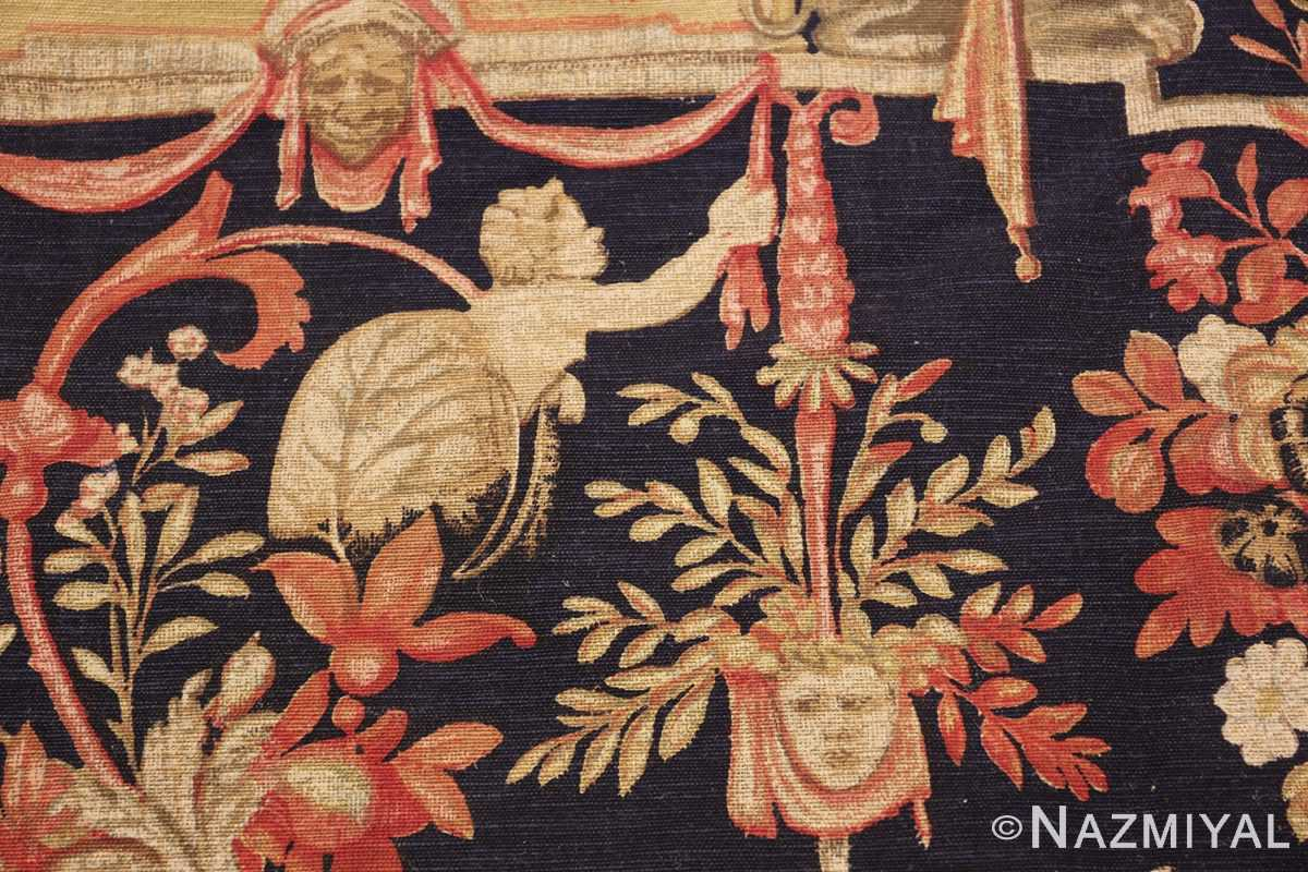 Antique D'Art De Rambouillet Edition French Tapestry 49901 Small Angel Nazmiyal