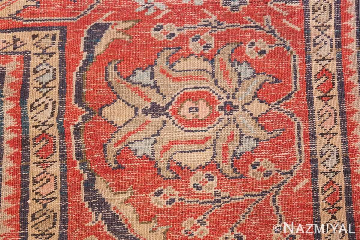 Antique Navy Background Persian Sultanabad Rug 49759 Back Weave Nazmiyal