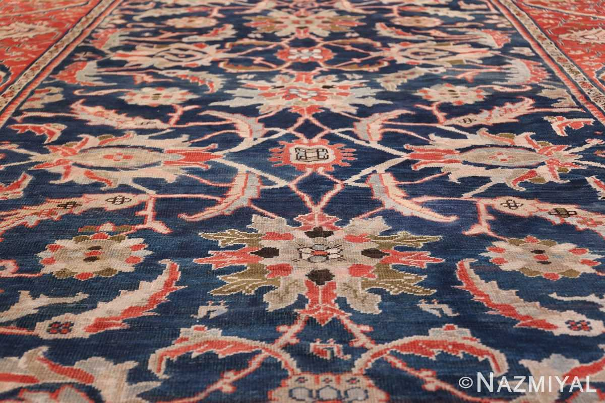 Antique Navy Background Persian Sultanabad Rug 49759 Field Design Nazmiyal