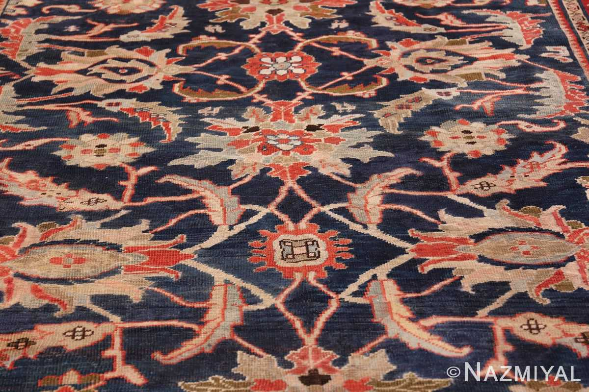 Antique Navy Background Persian Sultanabad Rug 49759 Middle Scrolls Nazmiyal