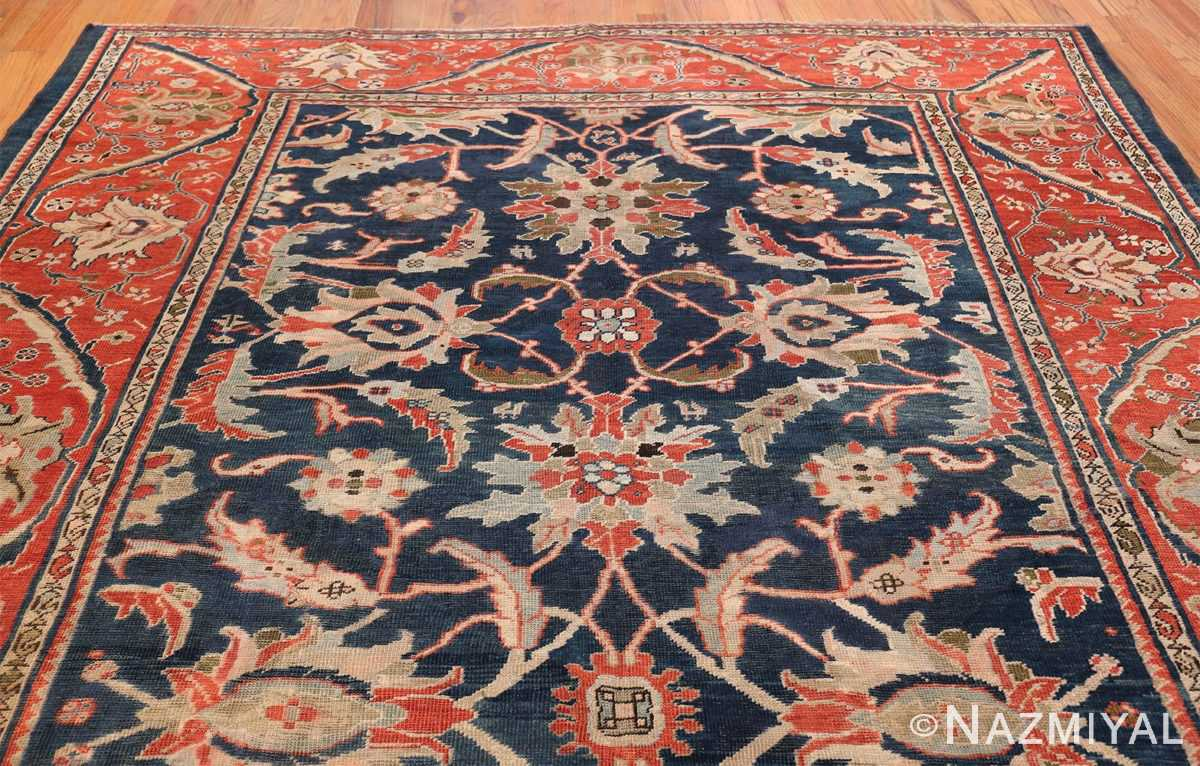 Antique Navy Background Persian Sultanabad Rug 49759 Top Design Nazmiyal