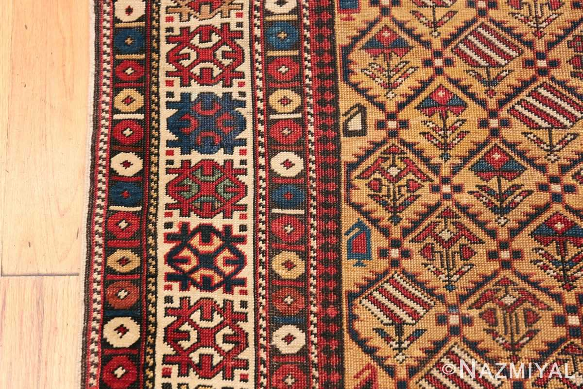 Antique Prayer Design Caucasian Dagestan Rug 49485 Border Design Nazmiyal