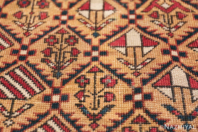 Antique Prayer Design Caucasian Dagestan Rug 49485 Closeup Look Nazmiyal
