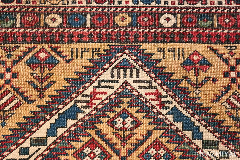 Antique Prayer Design Caucasian Dagestan Rug 49485 Date Signature Nazmiyal