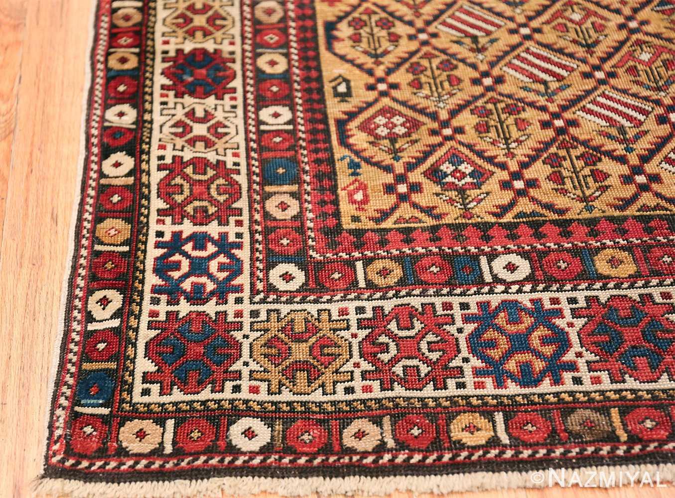 Antique Prayer Design Caucasian Dagestan Rug 49485 Side Corner Nazmiyal