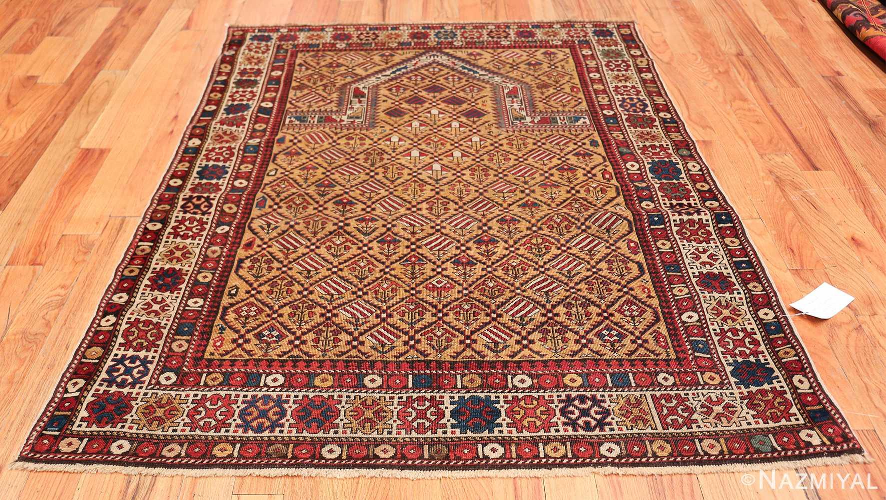 Antique Prayer Design Caucasian Dagestan Rug 49485 Whole Design Nazmiyal