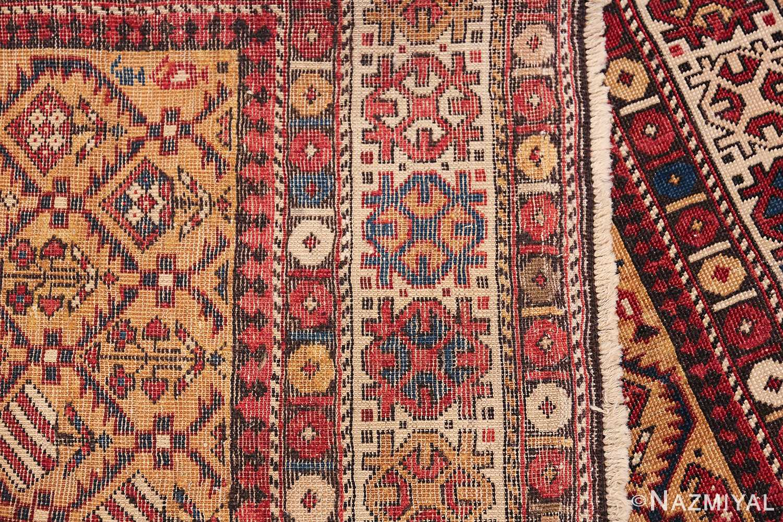 Antique Prayer Design Caucasian Dagestan Rug 49485 Woven Knots Nazmiyal
