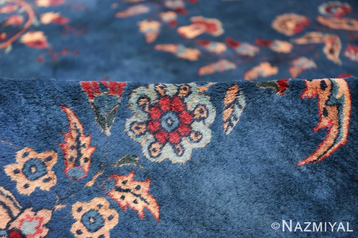 Blue Oversize Floral Antique Indian Rug 49847 Blue Pile Nazmiyal