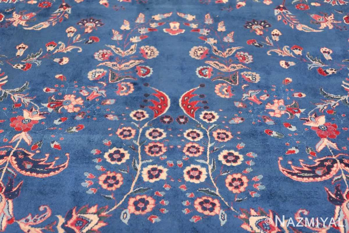 Blue Oversize Floral Antique Indian Rug 49847 Floral Tiara Nazmiyal