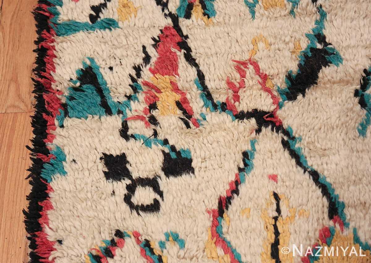 Colorful Small Size Vintage Moroccan Rug 49887 Border Design Nazmiyal