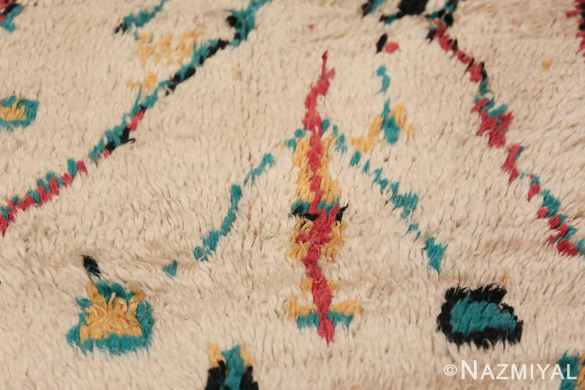 Colorful Small Size Vintage Moroccan Rug 49887 Closeup Texture Nazmiyal