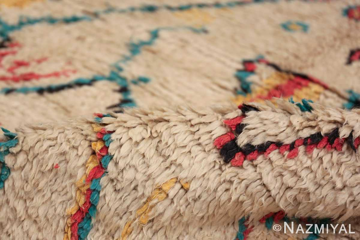Colorful Small Size Vintage Moroccan Rug 49887 Colorful Pile Nazmiyal