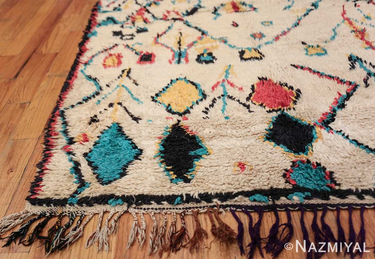 Colorful Small Size Vintage Moroccan Rug 49887 Side Corner Nazmiyal