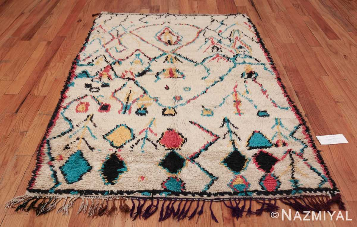Colorful Small Size Vintage Moroccan Rug 49887 Whole Design Nazmiyal