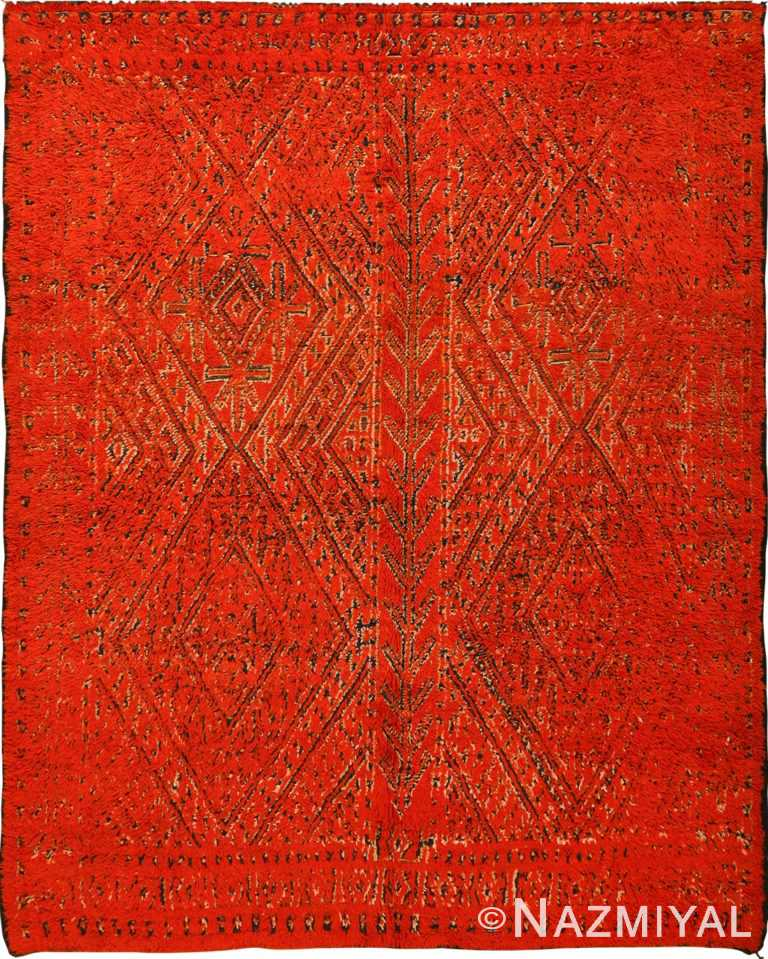 Double Sided Vintage Red Berber Moroccan Rug 49869 Nazmiyal