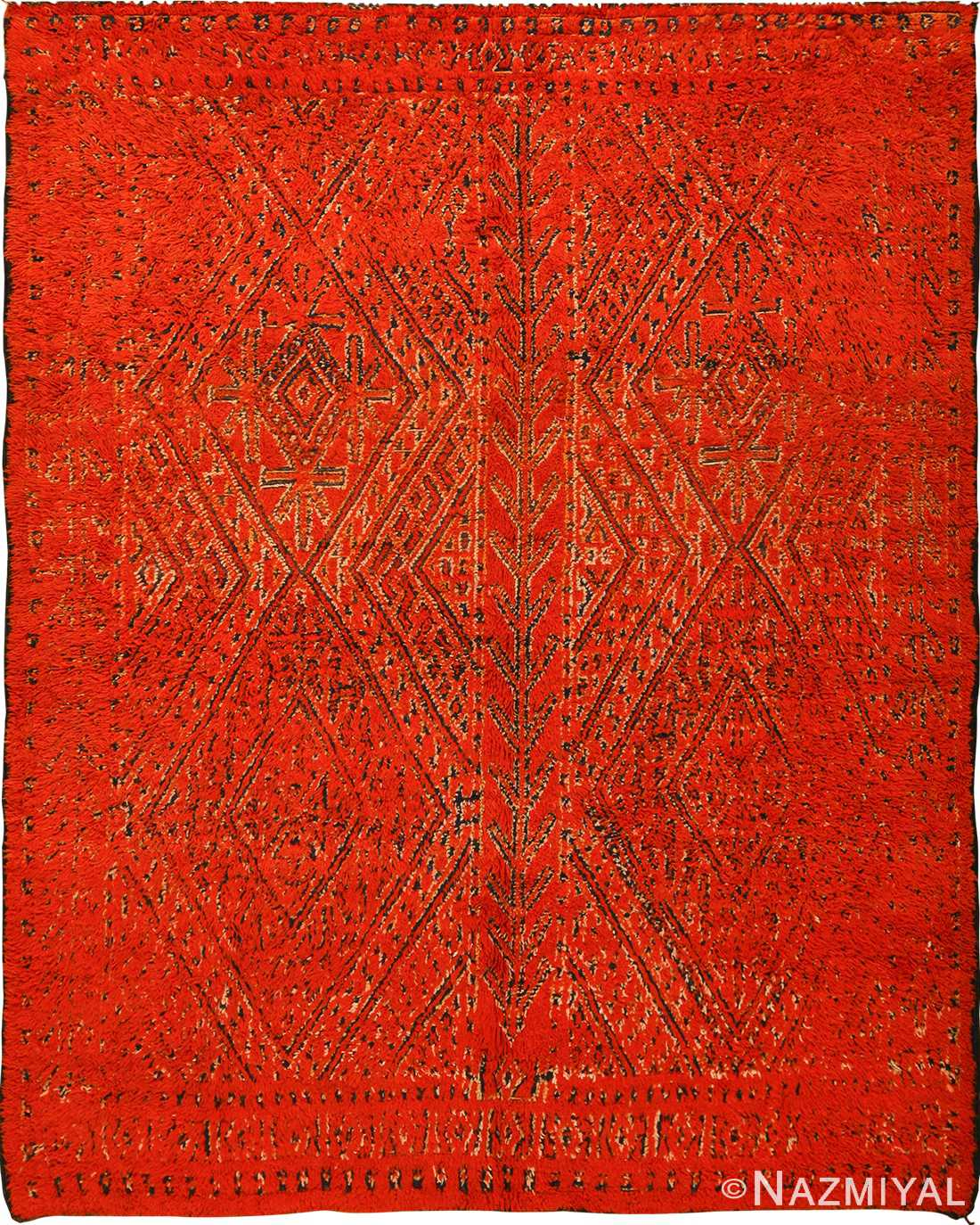 Double Sided Vintage Red Berber Moroccan Rug 49869 By Nazmiyal